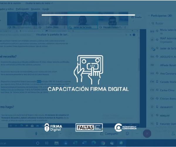 FIRMA DIGITAL - CAPACITACIÓN PARA OFICIALES DE REGISTRO Y SOPORTE TÉCNICO