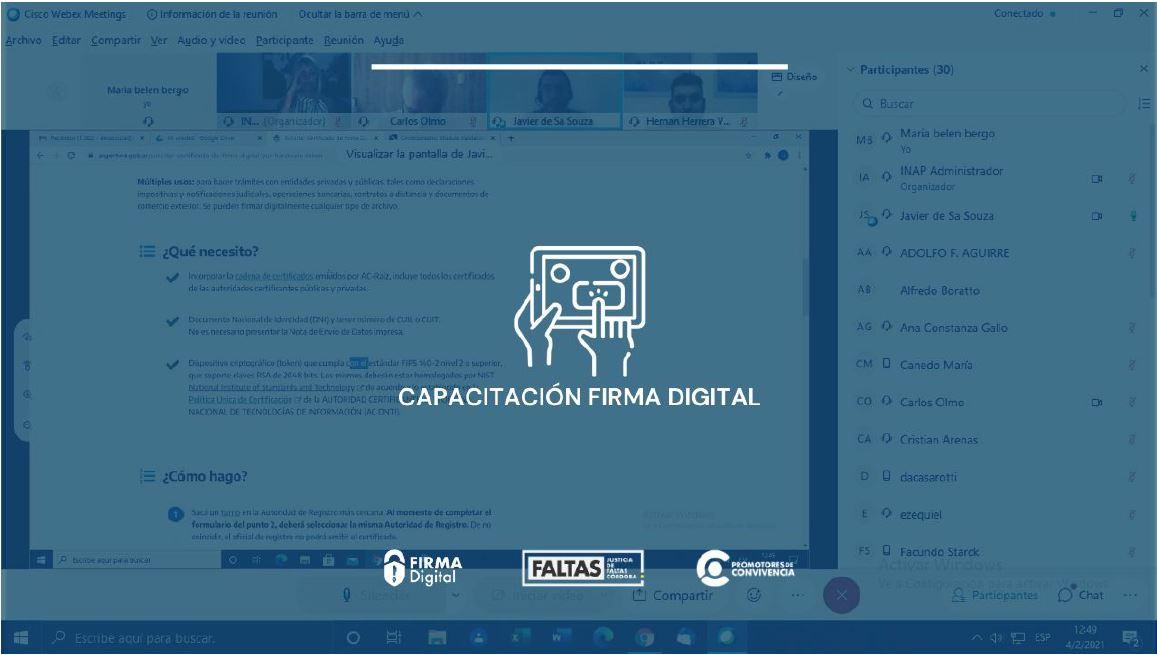 FIRMA DIGITAL – CAPACITACIÓN PARA OFICIALES DE REGISTRO Y SOPORTE TÉCNICO