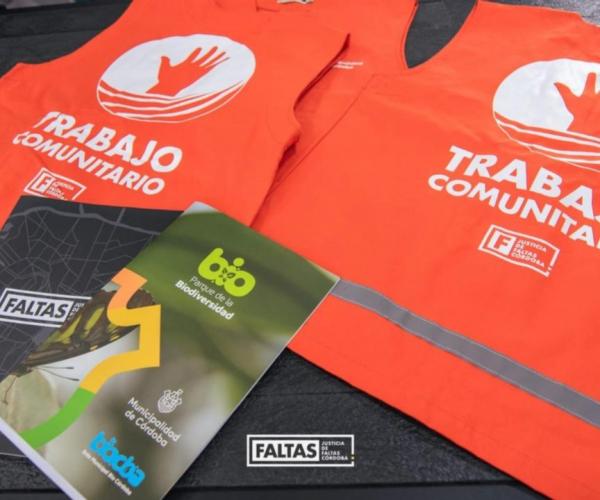 TRABAJO COMUNITARIO - FIRMA DE CONVENIO BIOCÓRDOBA - JUSTICIA DE FALTAS